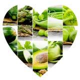 Vegetable куски сердца Стоковые Фотографии RF