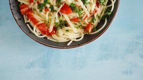 Vegetable макаронные изделия на черной предпосылке стоковое изображение