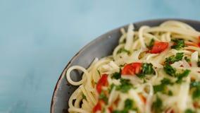 Vegetable макаронные изделия на черной предпосылке стоковое изображение rf