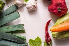 Vegetable меню границы Стоковая Фотография