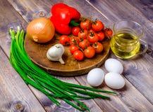 Vegetable натюрморт на деревянной таблице Стоковое Изображение