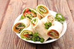 Vegetable обруч сандвича стоковые фотографии rf