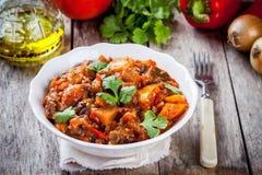 Vegetable паприка, баклажан и томат ragout (ratatouille) Стоковые Фото