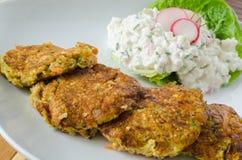 Vegetable пирожки с салатом творога и редиски Стоковая Фотография RF