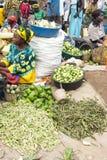 Vegetable рынок в Уганде стоковое изображение