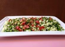 vegetable салат отрезал в sques Стоковое Изображение RF
