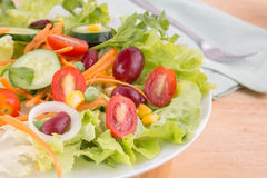 Vegetable салат на плите стоковые изображения rf
