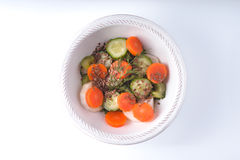 Vegetable салат с морковью на белой изолированной предпосылке стоковая фотография