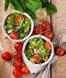 Vegetable салат с шпинатом Стоковые Фото