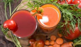 Vegetable соки с ингридиентами Стоковая Фотография RF