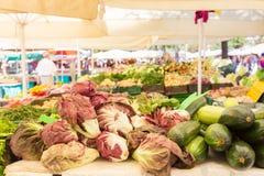 Vegetable стойл рынка Стоковая Фотография