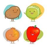 Vegetable характеры иллюстрация вектора