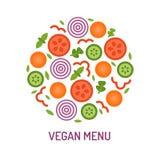 Vegetable эмблема круга Стоковое Изображение RF