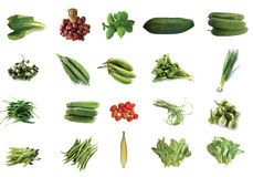 Vegetable 04. Cabbage and green vegetable collection isolated on white background Royalty Free Stock Images