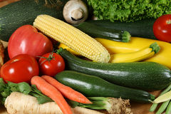 Vegetable. Fresh vegetable on the wooden board. Organic, healthy food Stock Image
