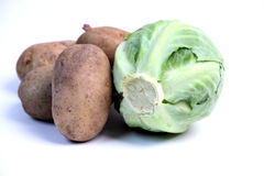 Vegetable. A vegetable isolated on white background royalty free stock photo