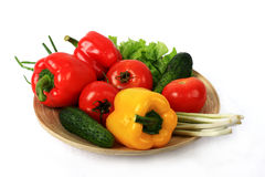 Vegetable. Fresh vegetables contain a considerable quantity of vitamins necessary for an organism Royalty Free Stock Images