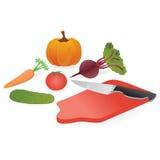 Vegetable. Set of vegetables isolated on a white background Stock Illustration