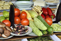 Vegetable. A variety of vegetable in a restaurant waiting for cooking stock image