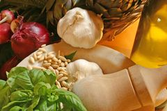 Vegetable. Elements, food ingredients, Italy Stock Photography