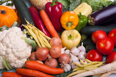 Vegetable. Different fresh raw vegetables on the table Royalty Free Stock Images