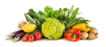 Vegetable. S colored composition on a white background royalty free stock photography