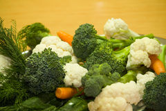 Vegetable. Vegetarian food... broccolis, cucumber, carrot, etc royalty free stock photography
