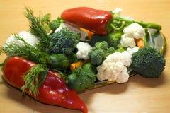 Vegetable. Vegetarian food... peppers, cucumber, carrot, etc stock photo