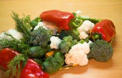 Vegetable. Vegetarian food... peppers, cucumber, carrot, etc royalty free stock photos