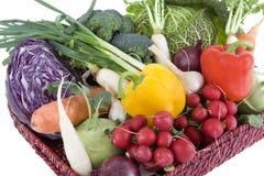Vegetable. Fresh vegetables in a basket Stock Images