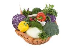 Vegetable. Fresh vegetables in a basket Royalty Free Stock Images