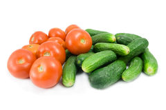 Vegetable. Some vegetable isolated on white Royalty Free Stock Image