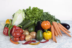 Vegetable. Assortment of different vegetable on a table Stock Photo