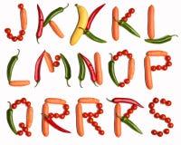 Vegetable alphabet Stock Photos