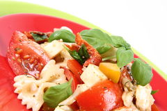 Vegetable And Farfalle Salad Royalty Free Stock Photos