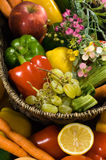 Vegetable And Fruit Basket Royalty Free Stock Image