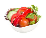 Vegetable arrangement . Royalty Free Stock Image