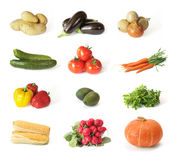 vegetable arrangement on white background Royalty Free Stock Photography