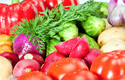 Vegetable assortment Royalty Free Stock Images