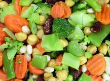 Vegetable Background. Mixed Vegetable Background Stock Image
