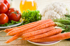 Vegetable background. Frash carrot. Royalty Free Stock Images