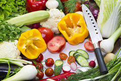 Vegetable background Stock Images