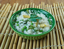 Vegetable Bagara. Rice delicacy prepared in Hyderabad, Telangana, India Royalty Free Stock Image