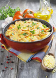 Vegetable baked with tomato and cheese Stock Images