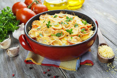 Vegetable baked with tomato and cheese Royalty Free Stock Photos
