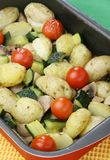 Vegetable baking tray Royalty Free Stock Photography