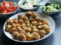 Vegetable Balls and Bowls of Vegetables Royalty Free Stock Photo