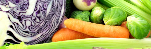 Vegetable banner. Close up image Royalty Free Stock Images