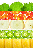 Vegetable banners collection / Set of 6 different mackro backgro Royalty Free Stock Photography