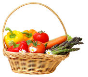 Vegetable in Basket Stock Image